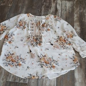 Floral Blouse Fall Colors